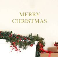 merry christmas wall stickers by leonora hammond