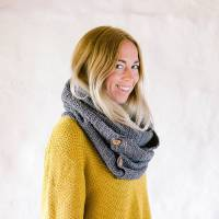 organic cotton scarf and snood by eka