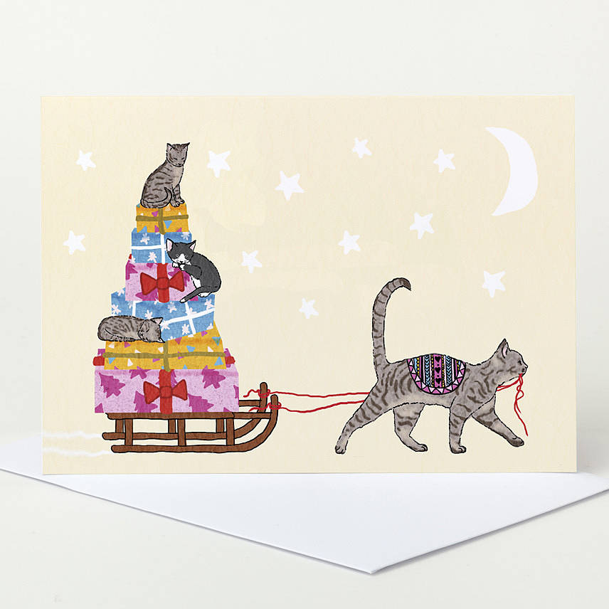 Christmas Cat Cards Christmas Lights Card And Decore