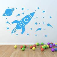 'children's space set' wall sticker by oakdene designs ...