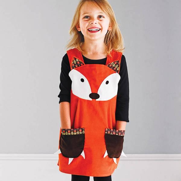 Girls Fox Dress Costume Wild Funky Little