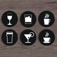 personalised 'drink' coasters by a piece of ...