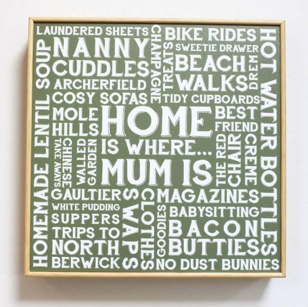 Personalised 'home ' Word Art Words