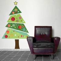 fabric christmas tree wall sticker by spin collective ...
