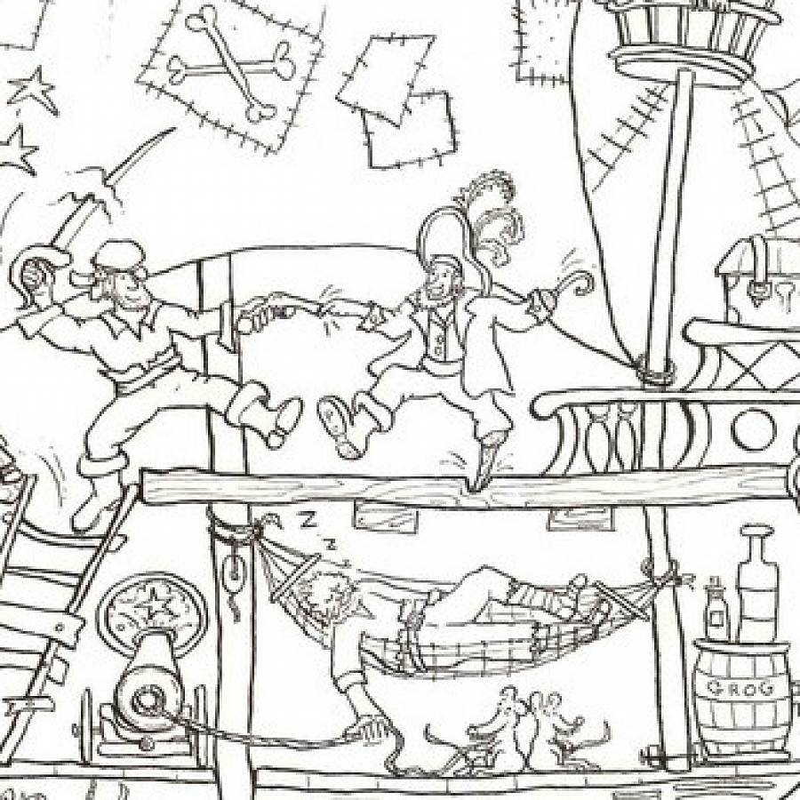 Pirate Ship Colouring In Poster By Really Giant Posters