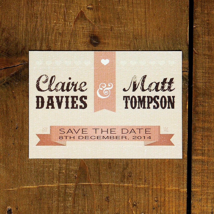 Personalised Wedding Save Date Cards