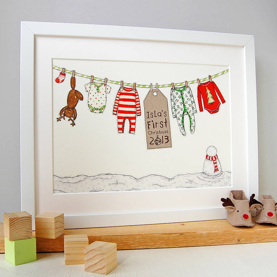 Personalised Babys First Christmas Card By Clara And Macy