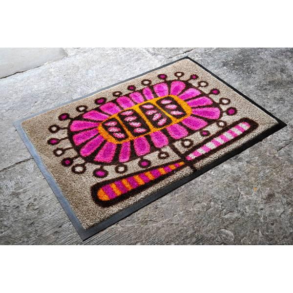 Flower Design Machine Washable Doormat