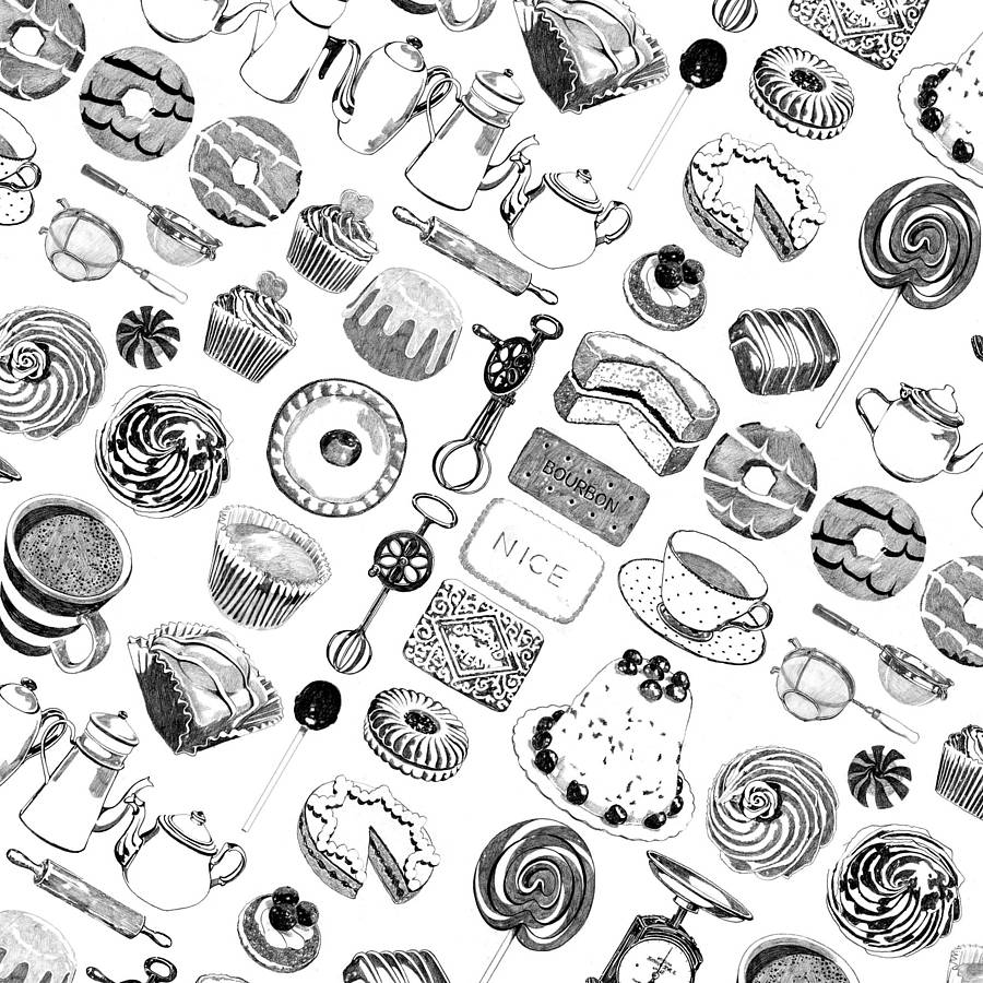 ten sheets of baking wrapping paper by ros shiers