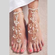 Handmade Amira Barefoot Bridal Sandals Ps With Love