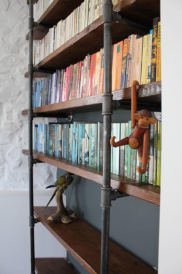 sebastian industrial vintage wooden shelves by urban grain