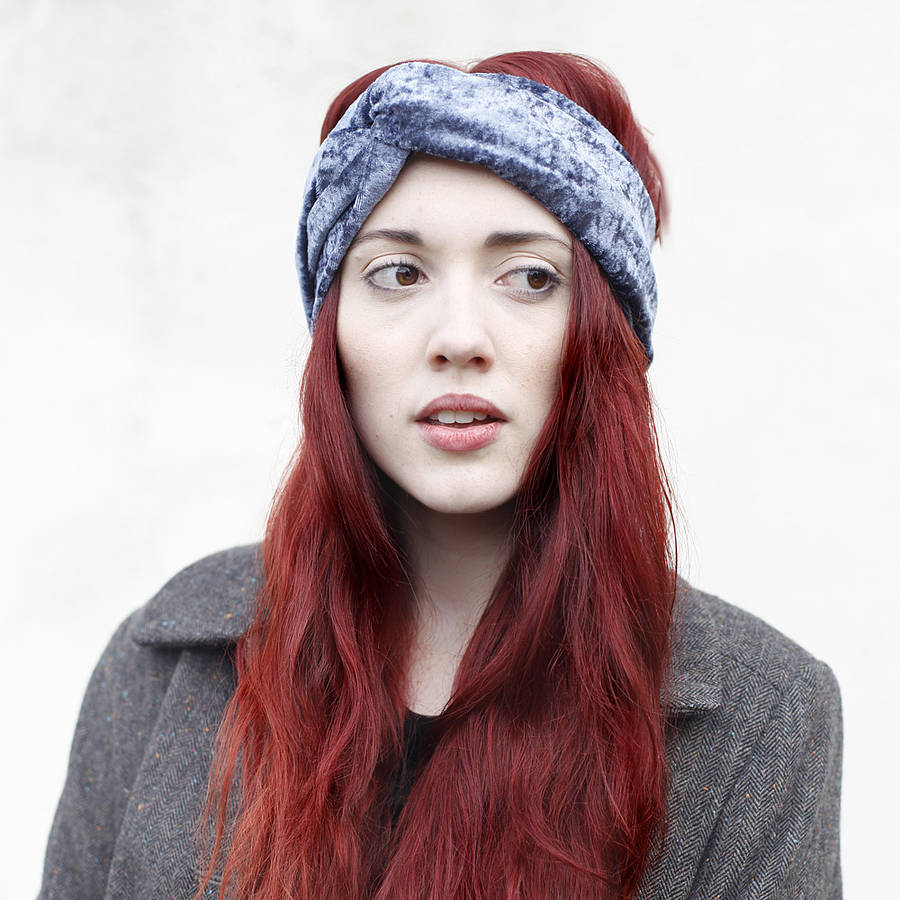 velvet turban headband by crown and glory | notonthehighstreet.com
