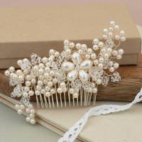 Gold Floral Swarovski Crystal Bridal Hair Comb 8005 Of ...
