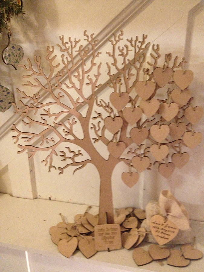 wishing tree large wooden guest book by craft heaven