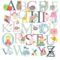 alphabet fabric wall stickers by littleprints ...