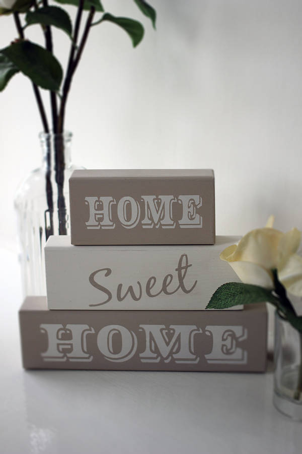 Home Sweet Home' Shelf Block Letters By Hush Baby Sleeping
