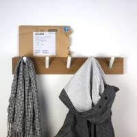 peg wooden coat rack by john green | notonthehighstreet.com