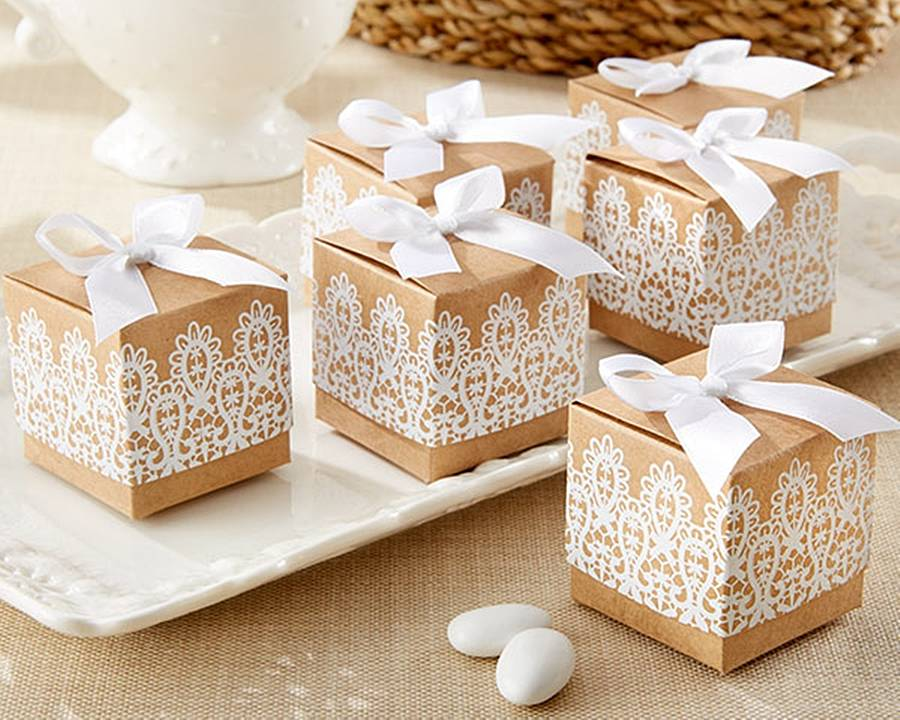 Lace Inspired Favour Boxes By Oli & Zo