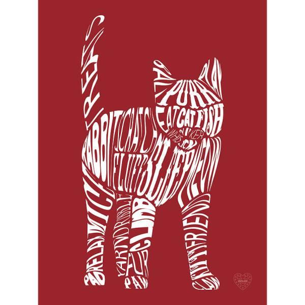Typographic Cat Print Mimi & Mae