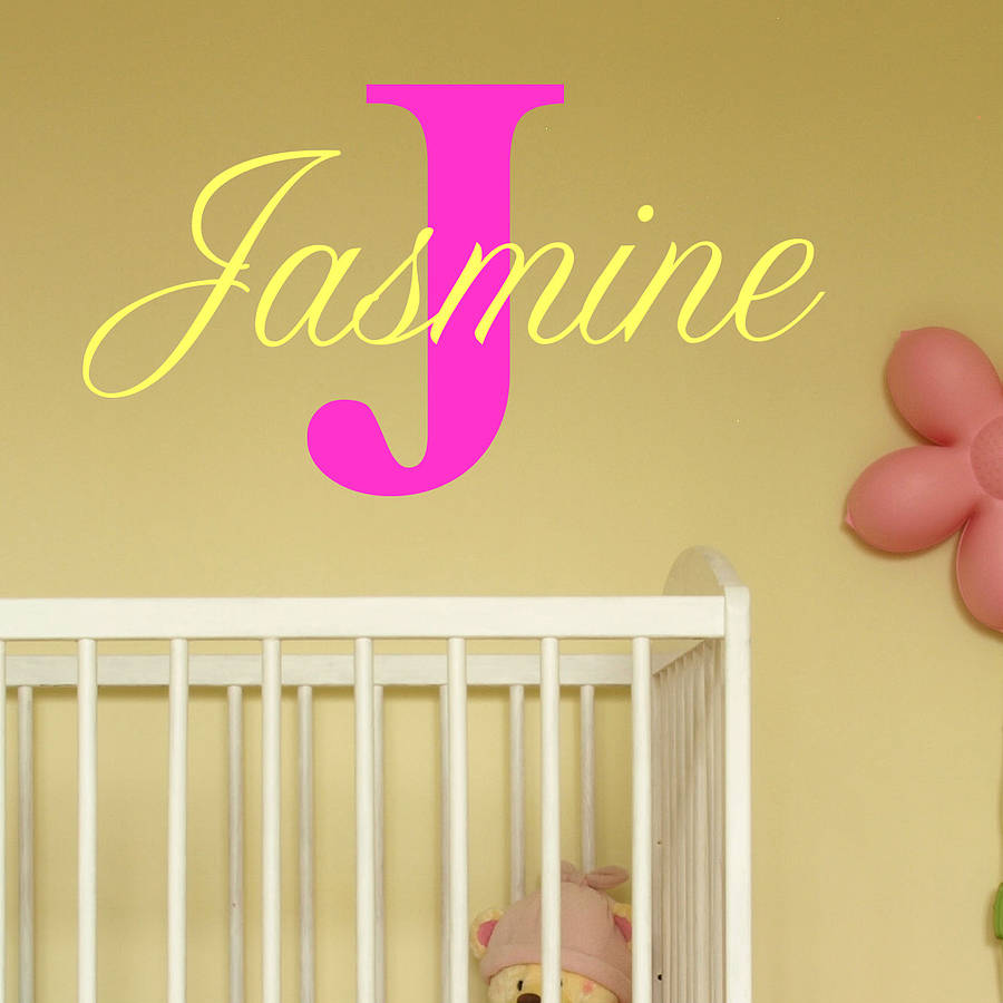baby girl name wall stickers by wall art quotes & designs