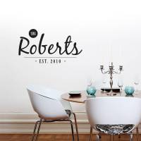 personalised family name wall sticker by sirface graphics ...