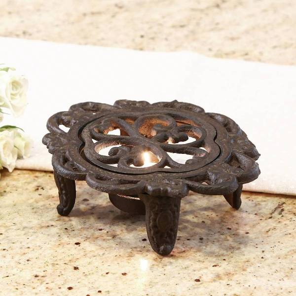 6th anniversary cast iron heart trivet and hot plate by ...