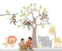 children's jungle wall stickers by parkins interiors