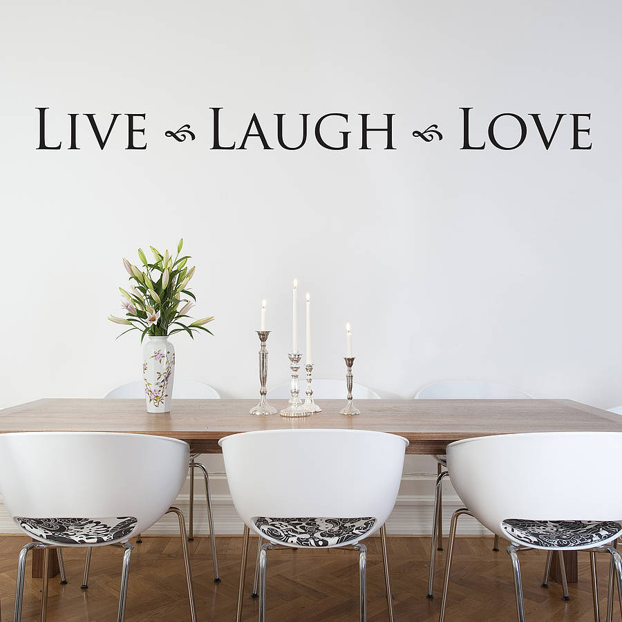 'live laugh love' wall sticker by nutmeg