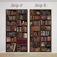 bookcase self adhesive wall mural by oakdene designs ...