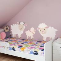 children's sheep wall sticker set by oakdene designs ...