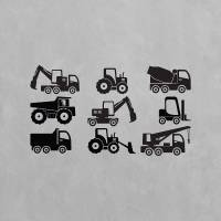construction wall art decal pack for kids by vinyl ...