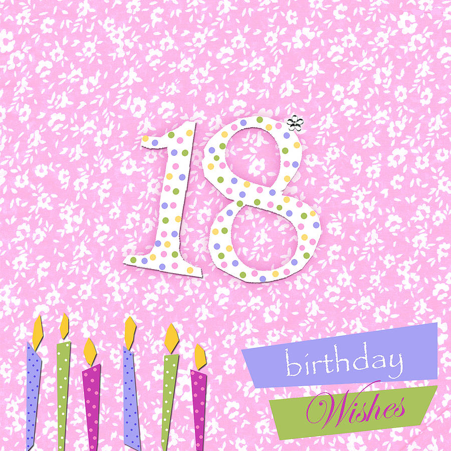 18th Birthday Card With Crystal Gem By Sabah Designs