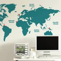 world map wall sticker by sirface graphics ...