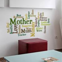 personalised word cloud wall sticker by spin collective ...