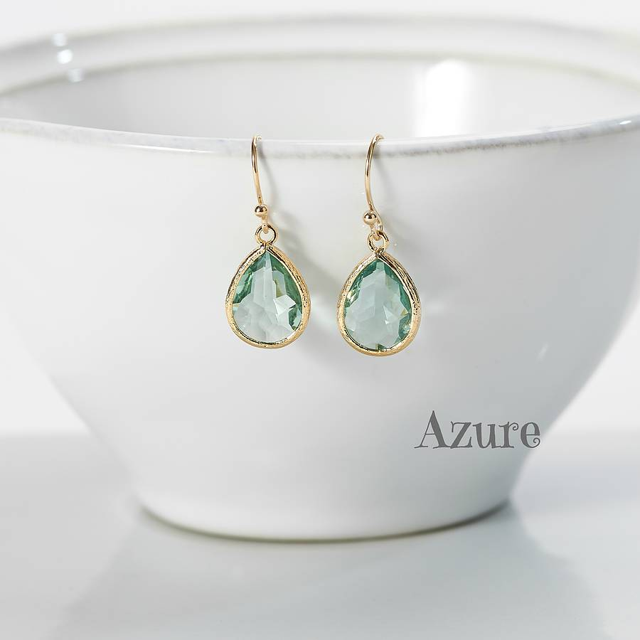 little gold plated teardrop earrings by simply suzy q