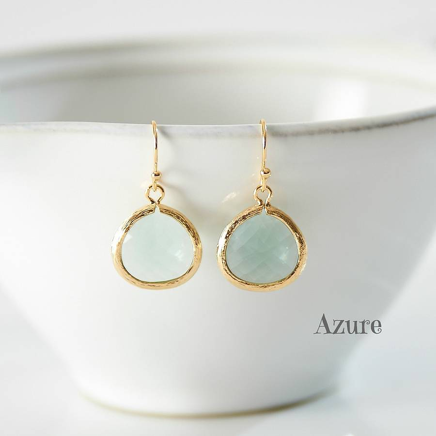little gold pear drop earrings by simply suzy q