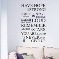 inspirational wall quote wall sticker by nutmeg ...