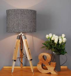 harris tweed herringbone tripod table lamp [ 900 x 900 Pixel ]