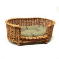 luxury wicker pet bed basket settee by prestige wicker ...