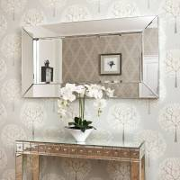 deep large all glass framed wall mirror by decorative ...