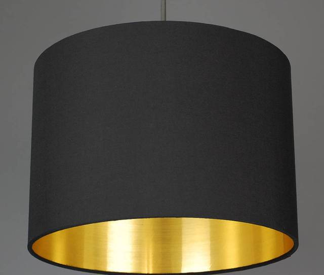 Brushed Gold Lined Lamp Shade 40 Colours