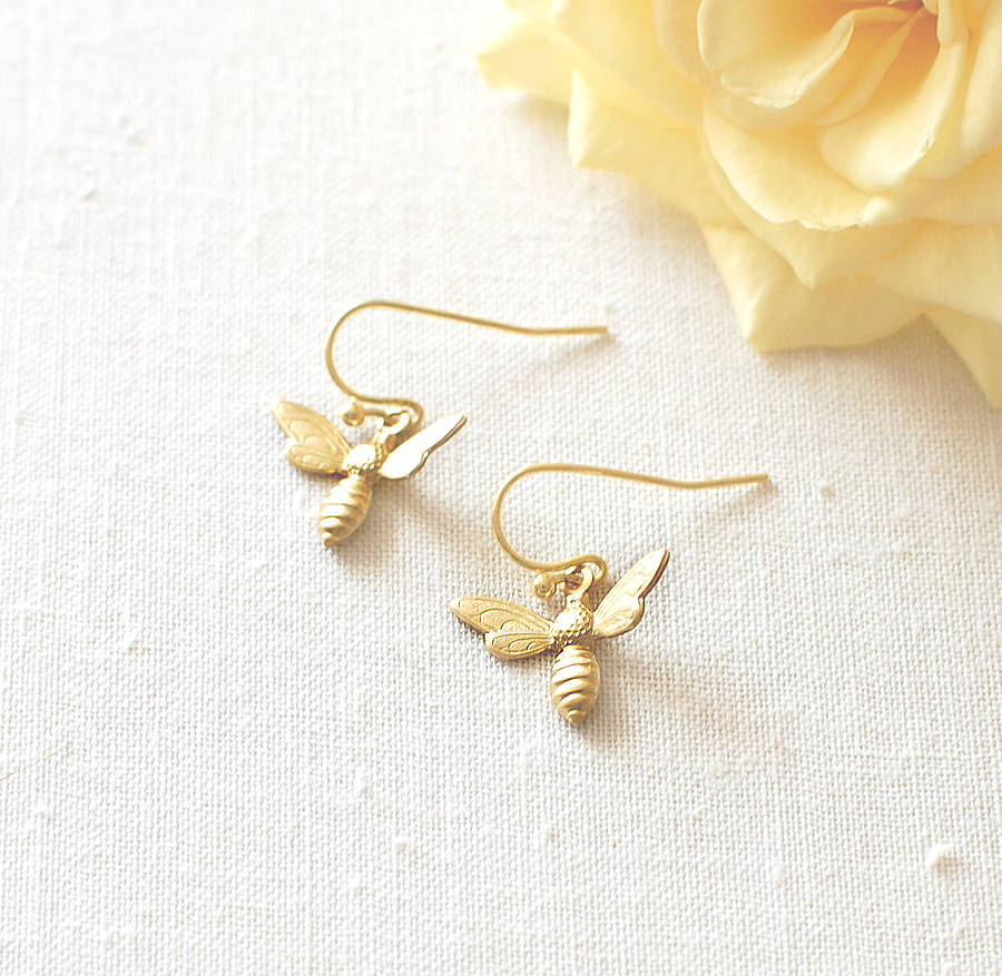 honey bee earrings by juju treasures
