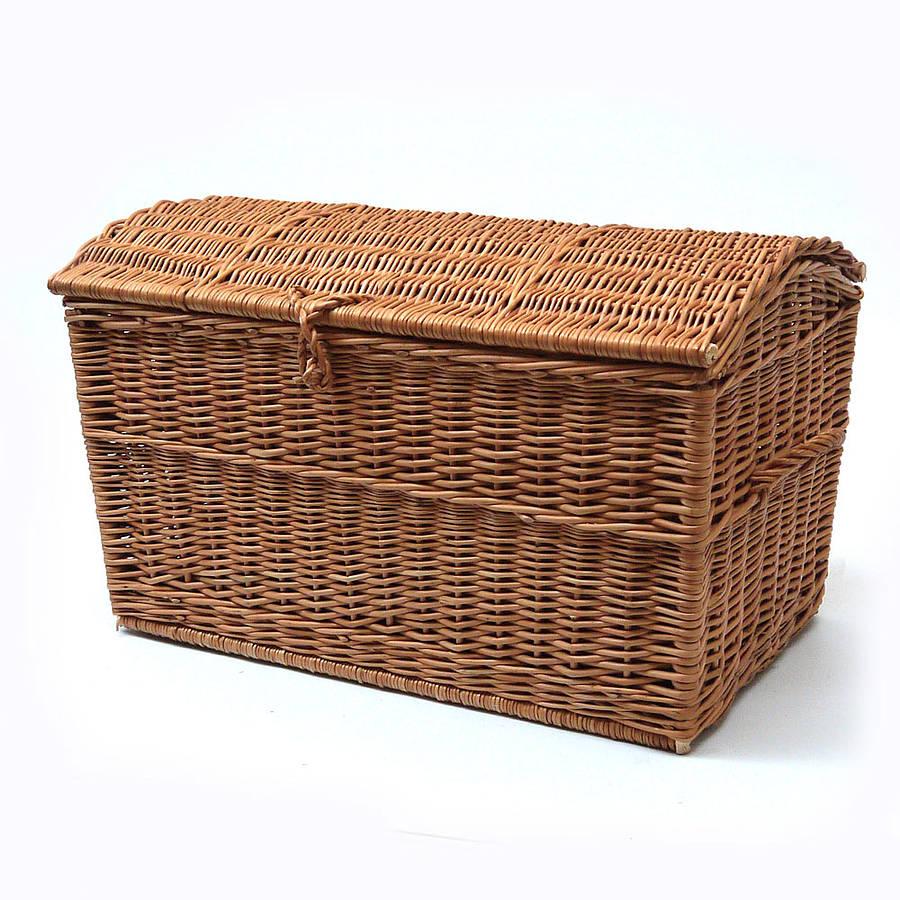 wicker chest storage basket by prestige wicker