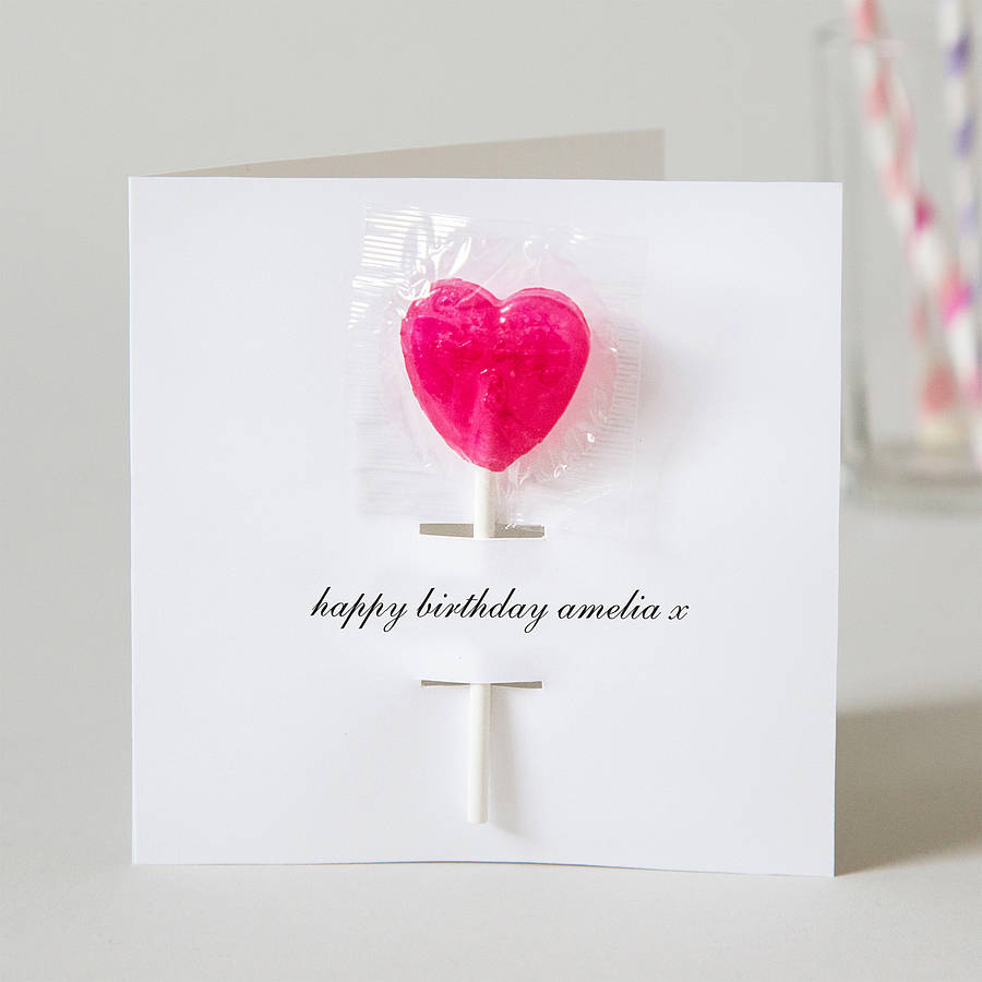 Personalised Birthday Card With Lollipop By Twenty Seven