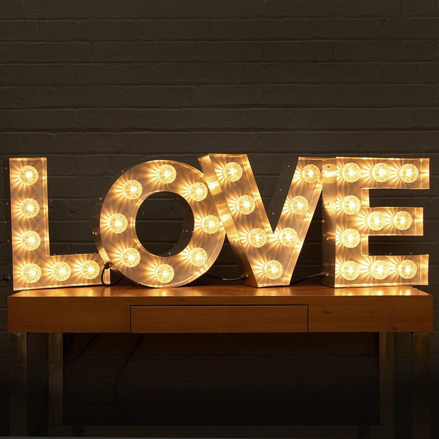 love light up fairground bulb sign by goodwin  goodwin