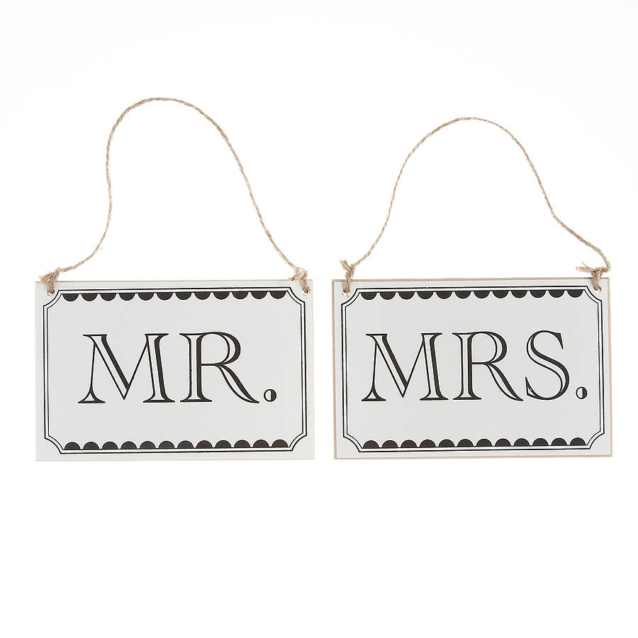 hanging chair notonthehighstreet wood lounge chairs mr and mrs wooden signs by the wedding of my dreams   notonthehighstreet.com