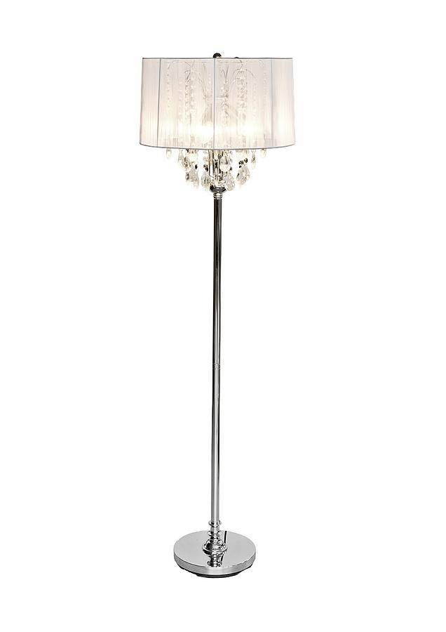 crystal chandelier floor lamp by made with love designs