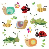fabric insect wall stickers by spin collective ...