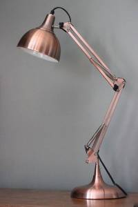 copper angled table lamp by the forest & co ...