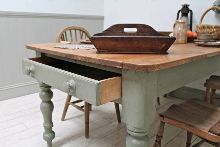 Large Distressed Pine Country Kitchen Table Longer Available